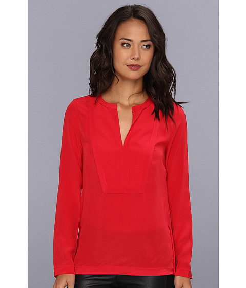 Bluze BCBGMAXAZRIA - Cato Square Bib Tunic Top - Red Berry
