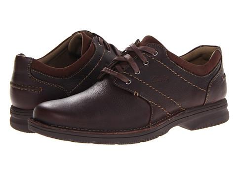 Pantofi Clarks - Senner Place - Dark Brown Tumbled Leather