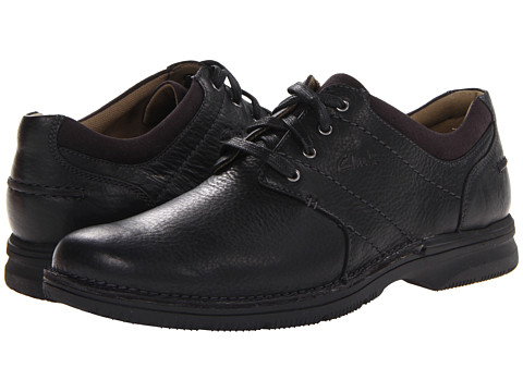 Pantofi Clarks - Senner Place - Black Tumbled Leather