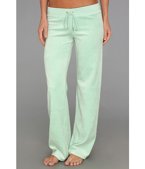 Pantaloni Juicy Couture - Velour Bling Original Leg Pant - Aqua Glass