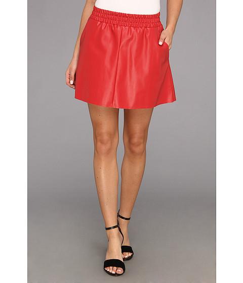 Fuste BCBGMAXAZRIA - Laika Leather Mini Skirt - Dark Poppy
