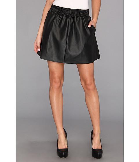 Fuste BCBGMAXAZRIA - Laika Leather Mini Skirt - Black