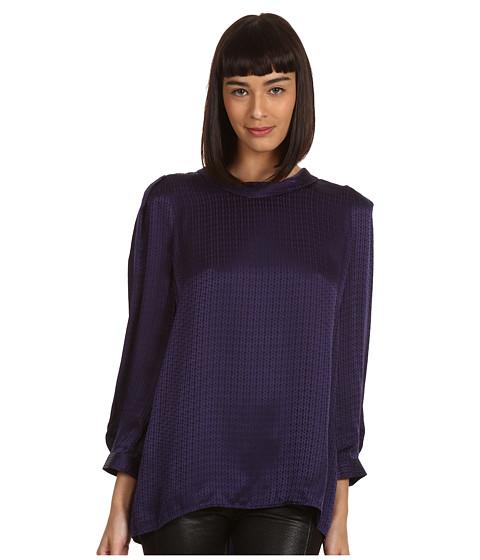 Bluze Chloe - 3/4 Bow Detail Silk Shirt - Navy