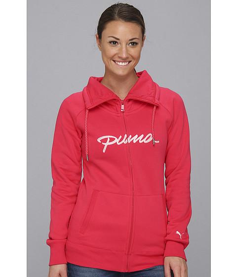 Bluze PUMA - Full Zip Cowl Neck Sweat - Virtual Pink