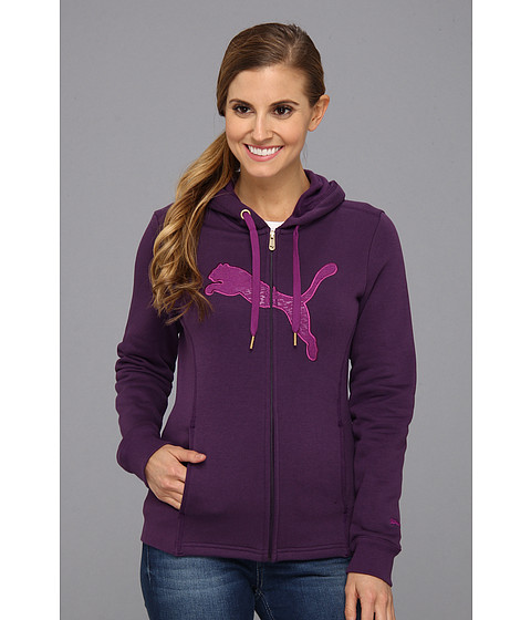 Bluze PUMA - Hooded Full Zip Track Jacket 827057 - Blackberry Cordial