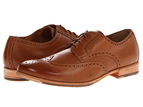 Pantofi Rockport - Castleton Wingtip - Tan Smooth