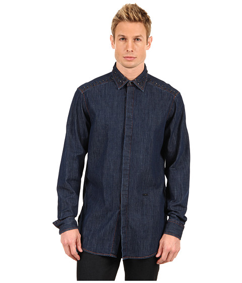 Camasi Just Cavalli - Denim Shirt with Studs - Denim