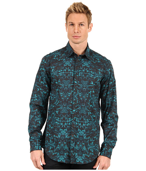 Camasi Just Cavalli - Marble Print Shirt - Blue