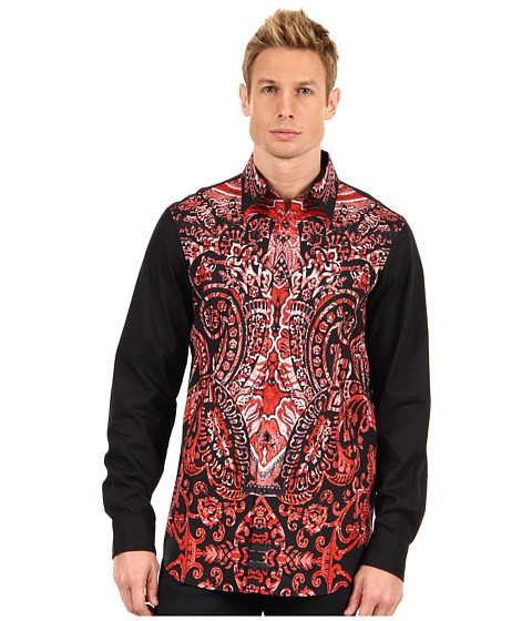 Camasi Just Cavalli - Paisley Front Shirt - Red