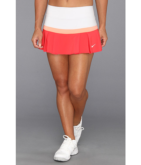 Fuste Nike - Woven Pleated Skort - Geyser Grey/Atomic Pink/Fusion Red/White