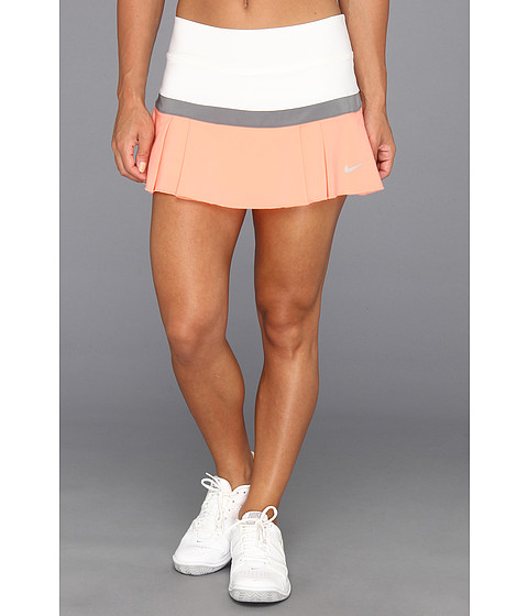 Fuste Nike - Woven Pleated Skort - White/Cool Grey/Atomic Pink/Matte Silver