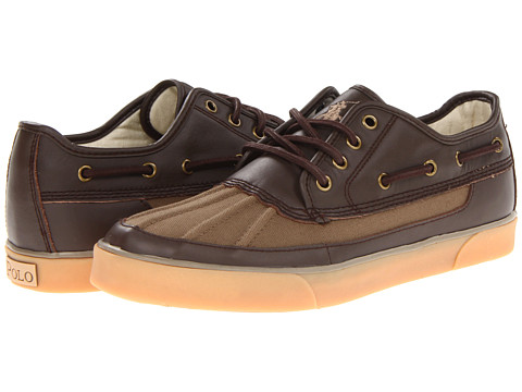 Adidasi Polo Ralph Lauren - Parkstone Low - Umber/Dark Brown/Umber