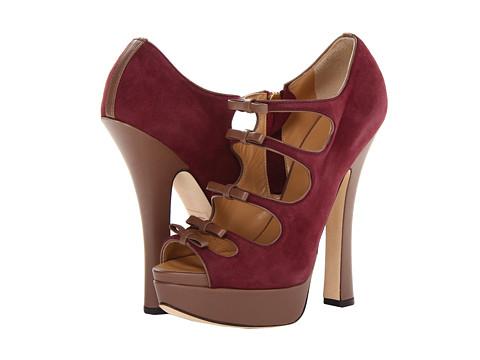 Pantofi DSQUARED2 - Grace - Camoscio Bordeaux