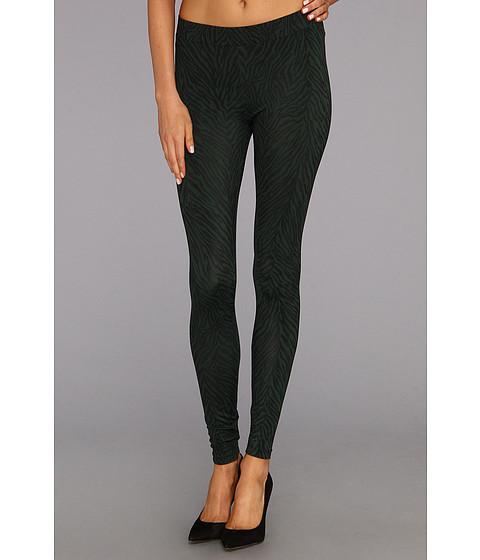 Pantaloni C&C California - Zebra Printed Legging - Bottle Green