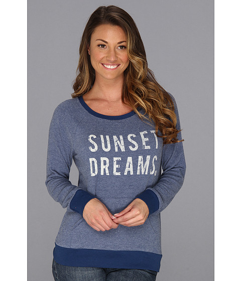 Bluze Roxy - Sunset Dreams L/S Vintage Raglan - Estate Blue