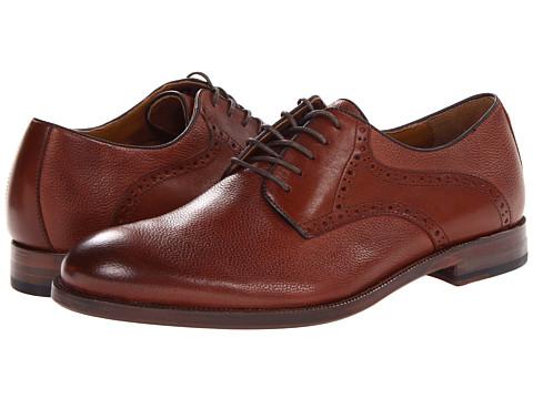 Pantofi Johnston & Murphy - Clayton Saddle - Dark Tan Pebble Scotchgrain/Smooth Calfskin