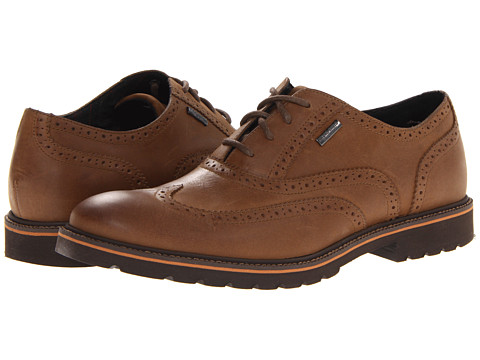 Pantofi Rockport - Ledge Hill Waterproof Wing - Dark Vicuna