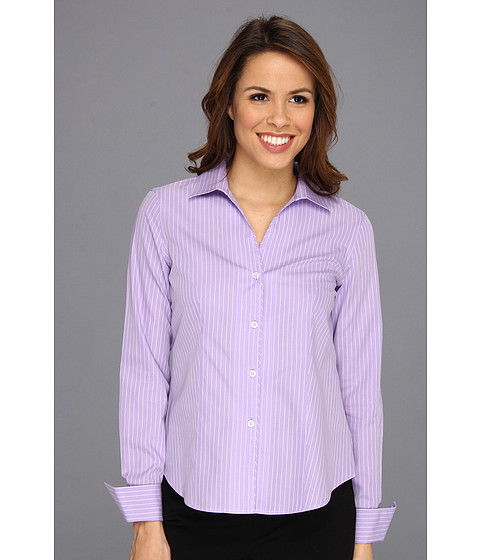 Camasi Jones New York - No-Iron Easy Care Fitted Shirt - New Lavender/JWhite