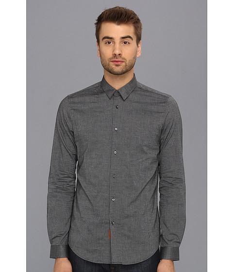 Camasi Ben Sherman - Micro Spot L/S Woven Shirt - Jet Black