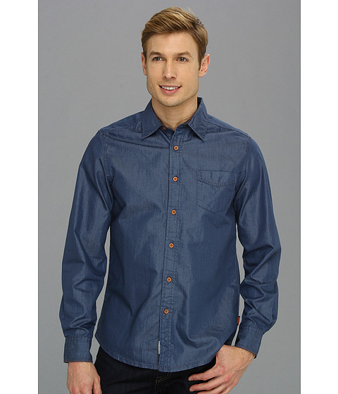 Camasi Fresh Brand - Chest Embroidered Shirt - Blue