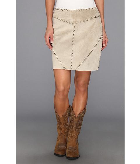 Fuste Stetson - Tan Suede Skirt w/ Whipstitch Detail - Tan
