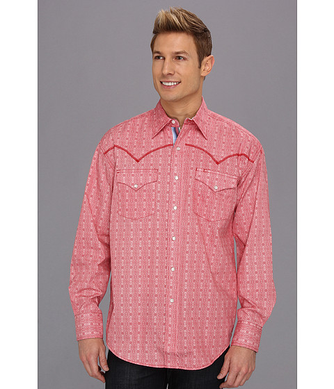 Camasi Stetson - Medallion Print On Poplin - Red