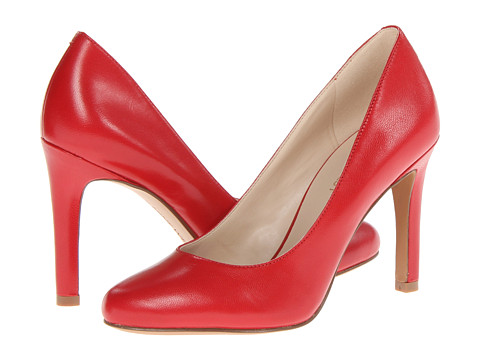 Pantofi Nine West - Gramercy - Red Leather Leather