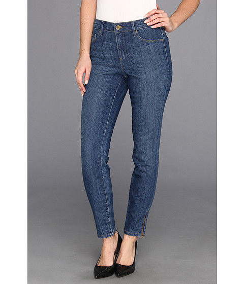 Blugi Anne Klein New York - Leo Skinny Ankle w/ Exposed Zipper in Antique Wash - Antique Wash