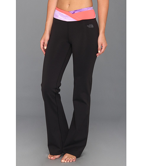 Pantaloni The North Face - Shavasana Pant - TNF Black/Pixie Purple Print/Rocket Red