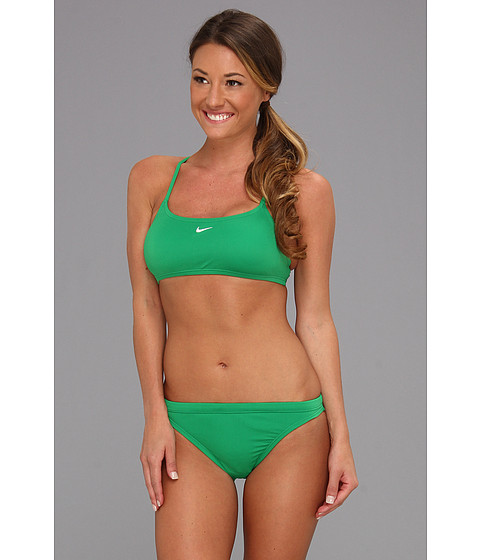 Costume de baie Nike - Poly Core Solids - Court Green