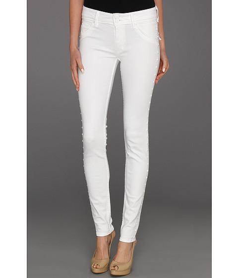 Blugi Hudson - Collin Mid Rise Skinny in White Studs - White Studs