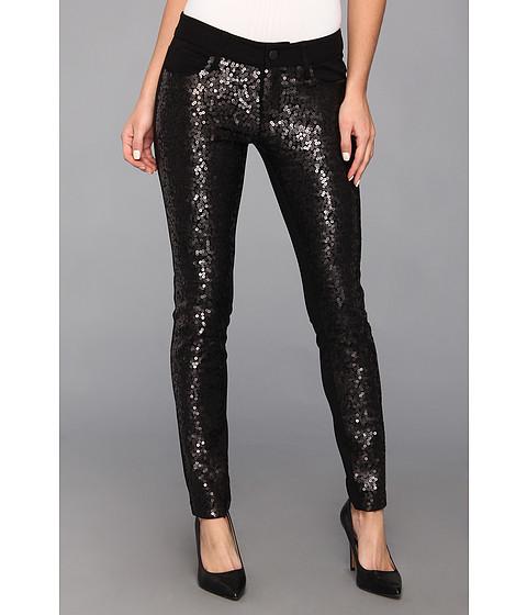 Pantaloni Paige - Emily Ponte Pant in Black Sequins - Black Sequins