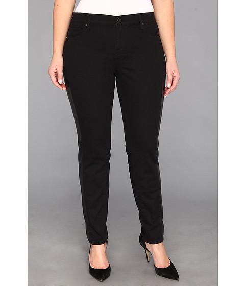 Pantaloni DKNY - Plus Size Faux Leather Pieced Legging in Noir - Noir