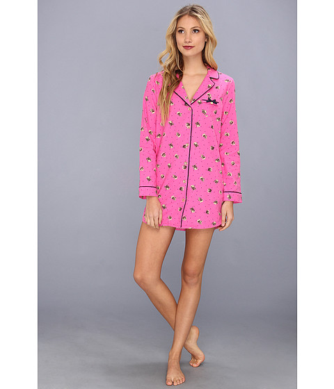 Lenjerie Juicy Couture - Flannel Nightshirt - Beauty Kitty Dot