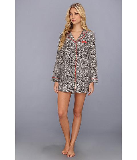Lenjerie Juicy Couture - Flannel Nightshirt - Black Mini Cheetah