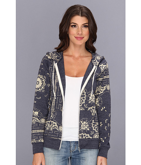 Bluze Alternative Apparel - Printed Adrian Hoodie - Eco True Navy Aiko Print