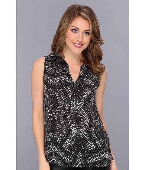 Bluze Nine West - Dull-Charmeuse Printed Cami - Black/White