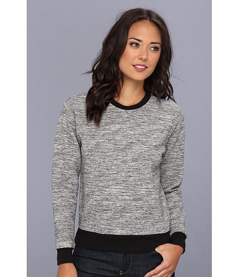 Bluze Rebecca Taylor - Melange Knit Runway Sweatshirt - Grey/Black