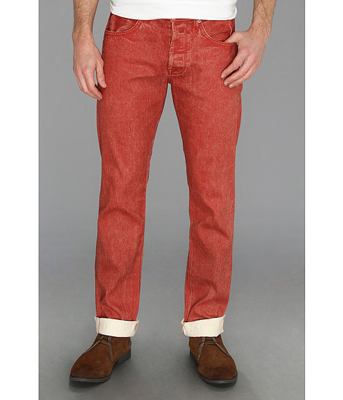 Blugi 7 For All Mankind - Straight Ecru in Passion Red - Passion Red
