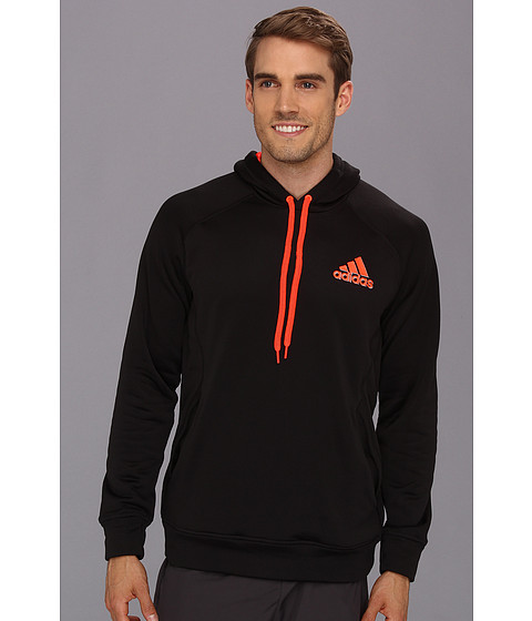 Bluze adidas - Ultimate Fleece Pullover Hoodie - Black/Infrared