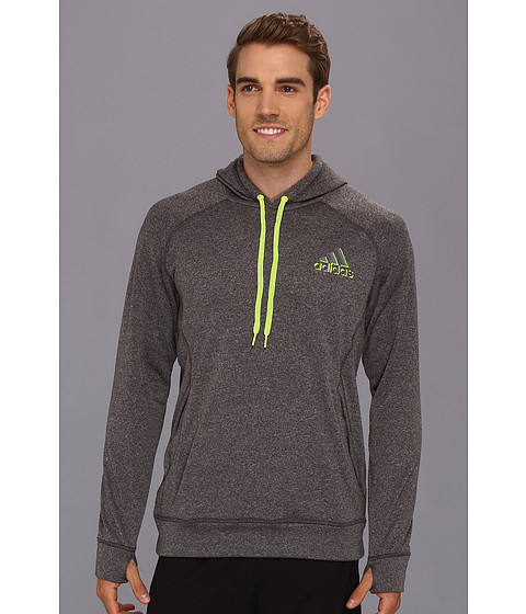 Bluze adidas - Ultimate Fleece Pullover Hoodie - Dark Shale Heather/Electricity