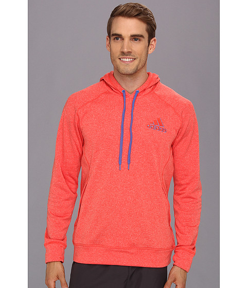 Bluze adidas - Ultimate Fleece Pullover Hoodie - Hi-Res Red Heather/Blast Blue