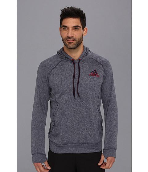 Bluze adidas - Ultimate Fleece Pullover Hoodie - Collegiate Navy/Colored Heather/Tech Grey