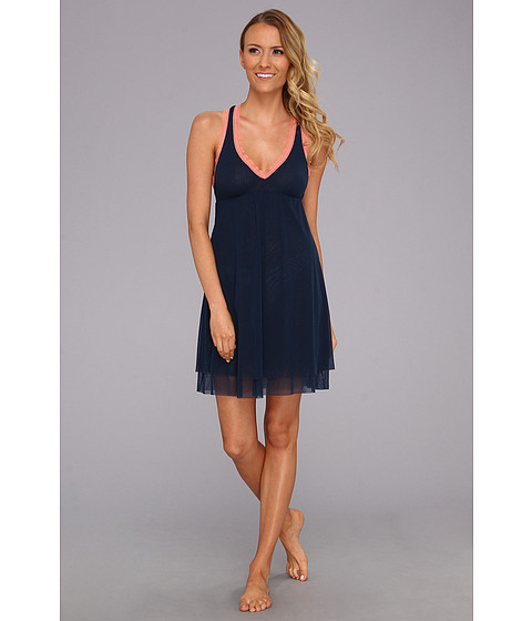 Lenjerie Cosabella - Dream Babydoll - Navy Blue/Coral Breeze