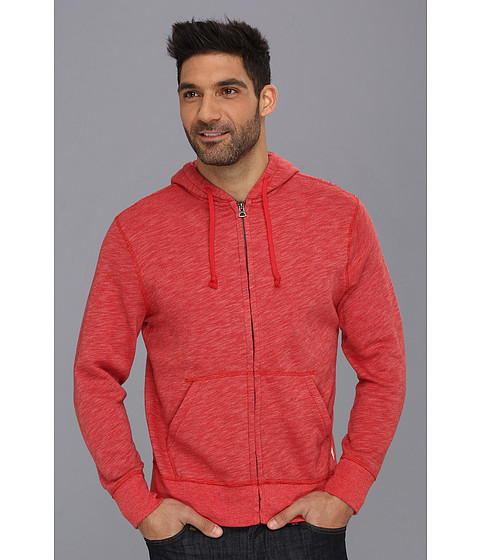 Bluze Lucky Brand - Solid Hoodie - Pompeian Red