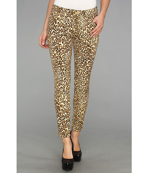 Blugi 7 For All Mankind - The Crop Skinny in Cheetah Print - Cheetah Print