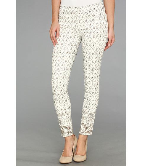 Pantaloni 7 For All Mankind - Crop Slim Cigarette in Silver/White - Silver/White
