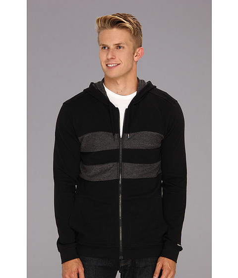 Bluze Hurley - Block Party Hideout Zip Up Hoodie - Black
