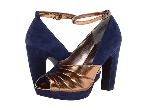 Pantofi Seychelles - Come Get Me - Navy/Copper
