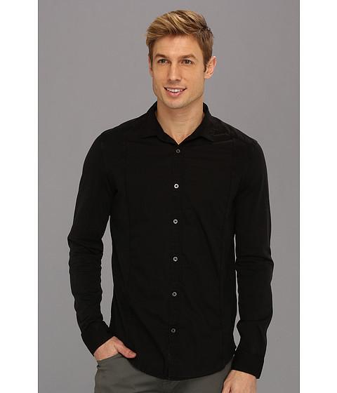 Camasi Calvin Klein Jeans - Pieced Mixed Media L/S Shirt - Black